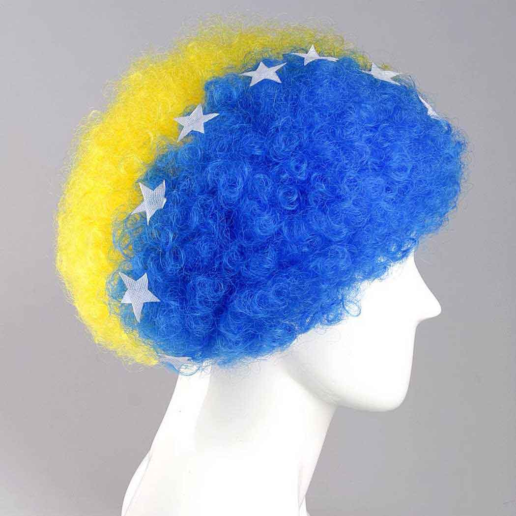 flagwigs, football wigs, fan wigs, afro wigs, mullet wigs, bob wigs, euro wigs,  premier league wigs,Bosnia and Herzegovina