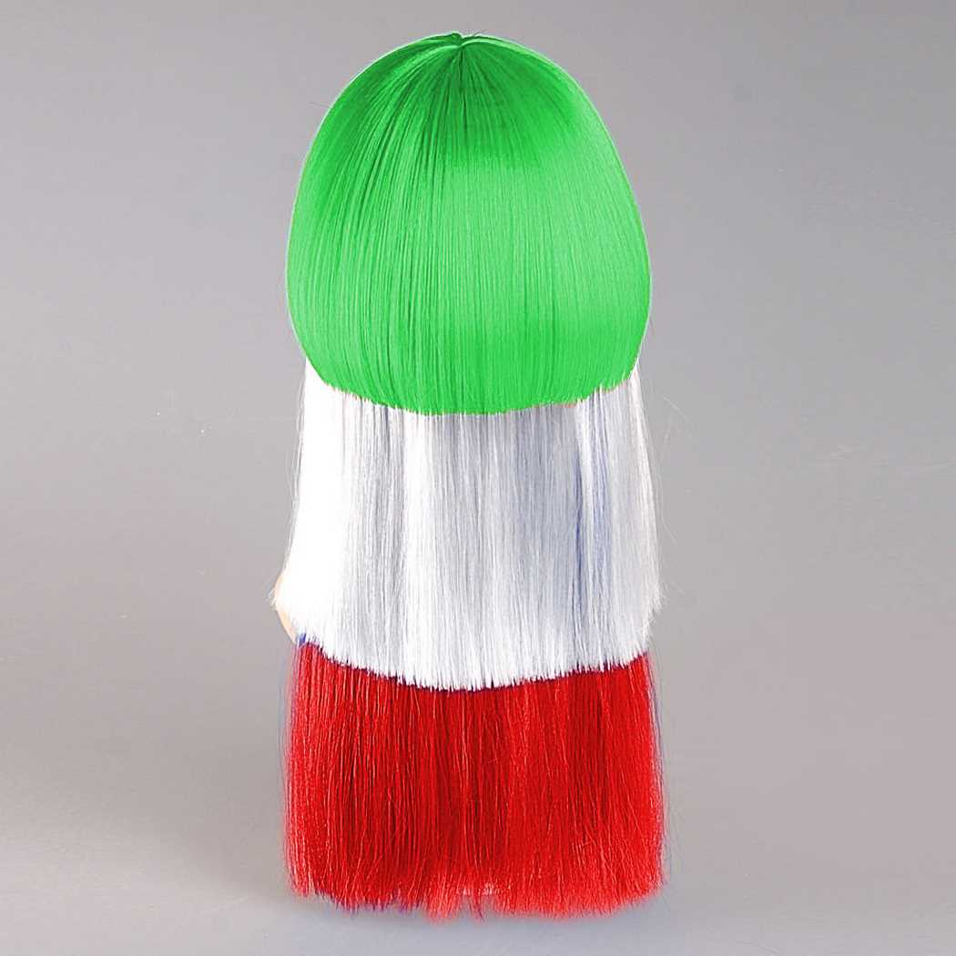 flagwigs, football wigs, fan wigs, afro wigs, mullet wigs, bob wigs, euro wigs,  premier league wigs,Iran Long Wig