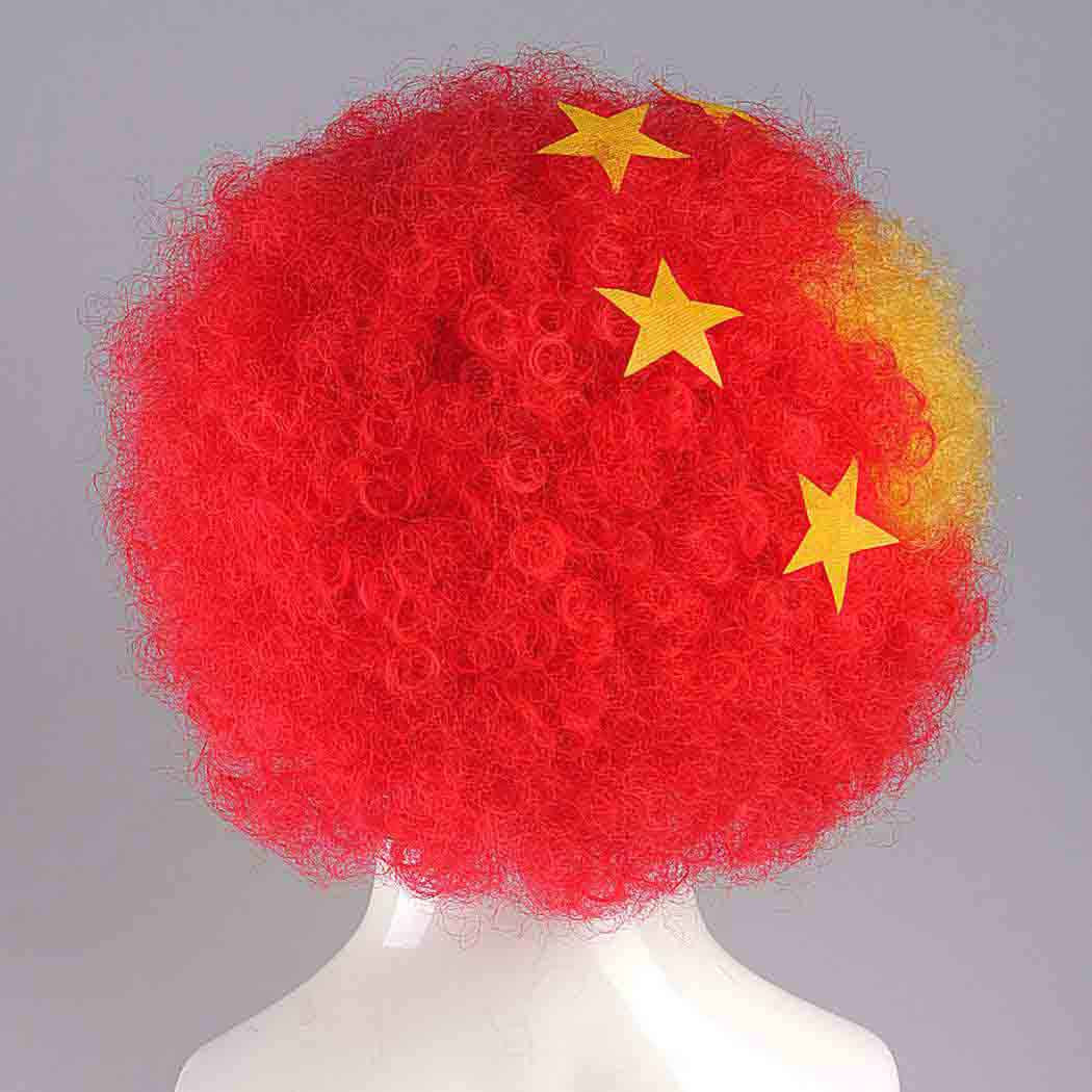 flagwigs, football wigs, fan wigs, afro wigs, mullet wigs, bob wigs, euro wigs,  premier league wigs,China Afro Wig