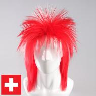 flagwigs, football wigs, fan wigs, afro wigs, mullet wigs, bob wigs, euro wigs,  premier league wigs,Switzerland Mullet Wig