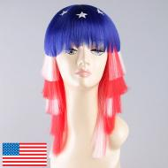 flagwigs, football wigs, fan wigs, afro wigs, mullet wigs, bob wigs, euro wigs,  premier league wigs,United States Long Wig