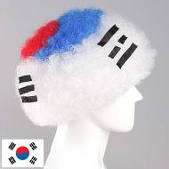 flagwigs, football wigs, fan wigs, afro wigs, mullet wigs, bob wigs, euro wigs,  premier league wigs,South Korea Afro Wig
