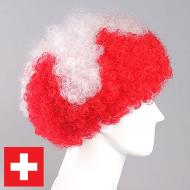 flagwigs, football wigs, fan wigs, afro wigs, mullet wigs, bob wigs, euro wigs,  premier league wigs,Switzerland Afro Wig
