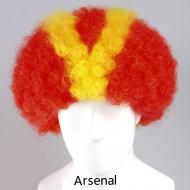 flagwigs, football wigs, fan wigs, afro wigs, mullet wigs, bob wigs, euro wigs,  premier league wigs,Arsenal Afro Wig