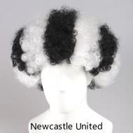 flagwigs, football wigs, fan wigs, afro wigs, mullet wigs, bob wigs, euro wigs,  premier league wigs,Newcastle United Afro Wig