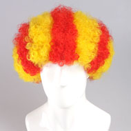 flagwigs, football wigs, fan wigs, afro wigs, mullet wigs, bob wigs, euro wigs,  premier league wigs,Spain BARCELONA Catalonian flag Wig Afro